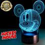 Luminária Abajur Led Efeito 3d Mickey Desenho Disney
