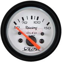 Temperatura De Óleo Willtec 52mm Medidor Bomba Motor Carro