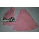 Conjunto Roupa Blusa Saia1 P/boneca Barbie Ou Similar Anos80