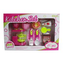 Kit Cozinha Brinquedo Infantil Cafeteira Pratinhos Bolo