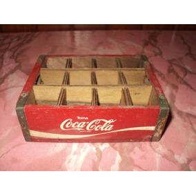 Antiguo Mini Cajon De Madera Para 12 Botellitas Coca Cola