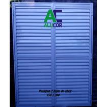 Postigon De Aluminio Blanco 150x200 2 Hojas
