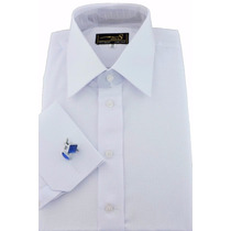 Camisa Ms Stilos Abotoadura Punho Duplo- (ref- A 67)
