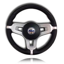 Volante Direção Esportivo Mustang Prata +cubo Focus 95-14