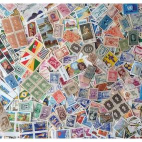 100 Selos Do Brasil + Bloco + 8 Folhas De Selos