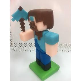 Minecraft Adorno Porcelana Fría Para Tortas