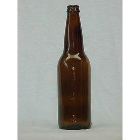 Botella De Vidrio Ambar