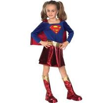 Disfraz De Superman Super Chica Para Niñas Envio Gratis