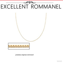 Rommanel Corrente 50cm Veneziana Fina 0,6m Banho Ouro 531315