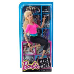 Barbie Articulada Yoga Feita Para Mexer Top Rosa Made To Mov