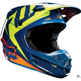 Capacete Fox V1 Race Mini N°55/56+viseira Adaptavel Gratis