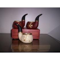 Pipa Cenicero Ceramica Artesanal Pintada A Mano