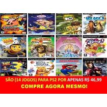 Infantil Coleção Madagascar 2 Para Play 2 (kit 14 Jogos Ps2