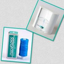 Dispenser De Fio Dental Bucal Suporte + Refil 400m Menta