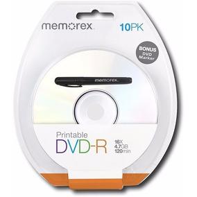 Dvd+r Printable Memorex 16x, 4.7gb, 120min, Paquete 10pzs,