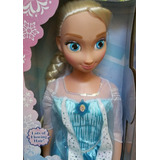 Muñeca Elsa Grande Mi Tamaño De Disney Azul