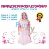Disfraz Princesa Económico Nenas Cotillón Fiesta Cumpleaños
