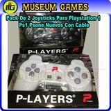 Pack De 2 Joysticks Para Playstation 1 Ps1 Psone Ps2 (local)
