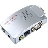 Conversor Vga P/ Rca + S-video Pc Notebook Tv Telão Projetor
