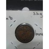 Moneda Nazi Cobre Tercer Reich 1938 Excelente