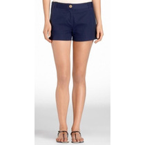 Tory Burch Short Isabella Vestir Original Navy Talla Xl