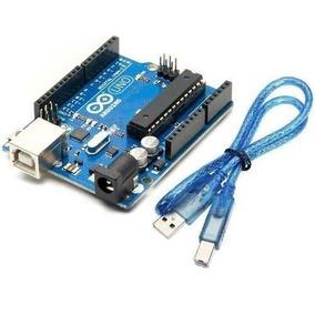 Placa De Prototipação Uno R3 - Arduino Compatível Com Cabo
