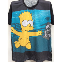 Camiseta Bart Simpson Nirvana