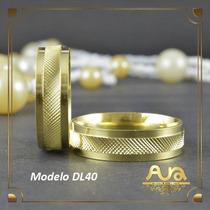 Alianças Ouro 12k 6mm Trabalhadas-frete Grátis-12xs/jur Dl40
