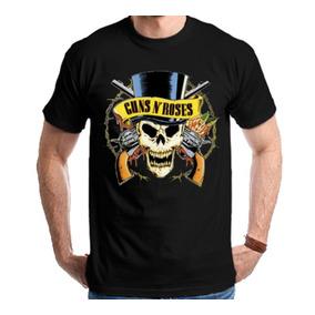 Camiseta Guns N Roses Slash Skull Camisa
