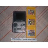 Game Boy Color Morado Con Trilogia Donkey Kong Land Gbc