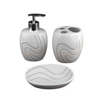 Conjunto Para Banheiro Em Porcelana - 3 Peças