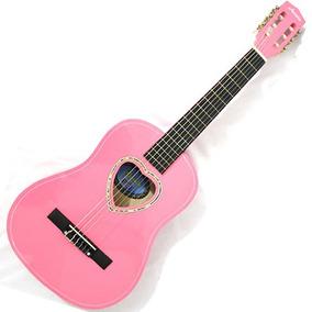 Violão Infantil Rosa 1/2 Cordas Nylon Linden Austin