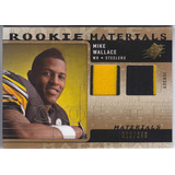 2009 Spx 2x Rookie Jersey Patch Mike Wallace 12/249 Steelers