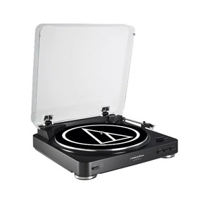 Vitrola Toca Discos At-lp60 Usb Audio Technica Preta 220v
