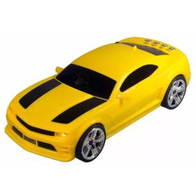 Lote 10 Unidades Caixinha Som Camaro Amarelo Mp3 Usb Micro