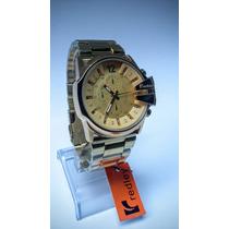 Relógio Masculino Barato Redley Em Aço Dourado