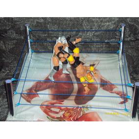 Ring De Lucha Libre + 2 Luchadores Mas Grande Que Los Mattel