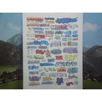 Ho - Decais De Grafites - Constr Vagões - Fundo Transparente