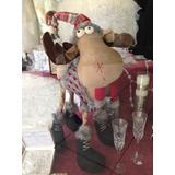 Navidad Figuras Decorativas Reno De Pie