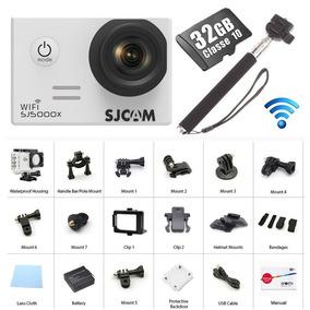 Câmera Sj5000x 4k Elite Sjcam Filmadora 120fps 32gb+ Bastão