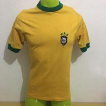 Jersey Antigua Brasil #9 Tostao 1972 Usada En Partido