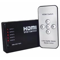 Switch Hdmi Tv Dvd Full Hd 5 Entradas 1 Salida Blister