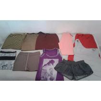 Lote Ropa De Mujer 10 Prendas, Calza Shorts Vestidos Pollera