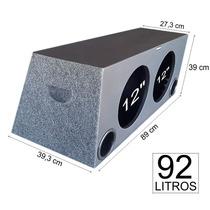 Caixa De Som P/ Carro 2 X 12 Spyder Nitro Dutada Mdf 92 Litr