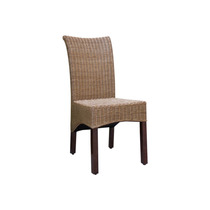 Silla De Comedor Campbell Rattan Wicker Stained (set Of 2),