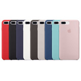 Funda Apple Silicone Case Para Iphone 7 7 Plus + Templado