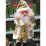 Papai Noel Luxo Roupa Dourada Canta E Dança 55 Cm
