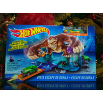 Pista Hot Wheels Escape De Gorila Con 1 Carrito