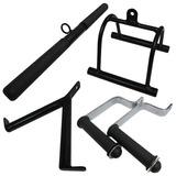 Puxador Musculação Kit Crossover Academia Reto Pulley Tricep