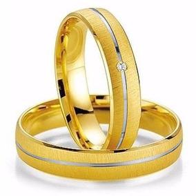 Alianças Bodas De Prata Ouro 18k Casamento 5 Gramas 4mm